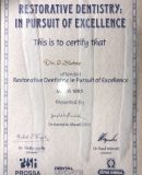 dentistry excellence certificate dr sean slotar